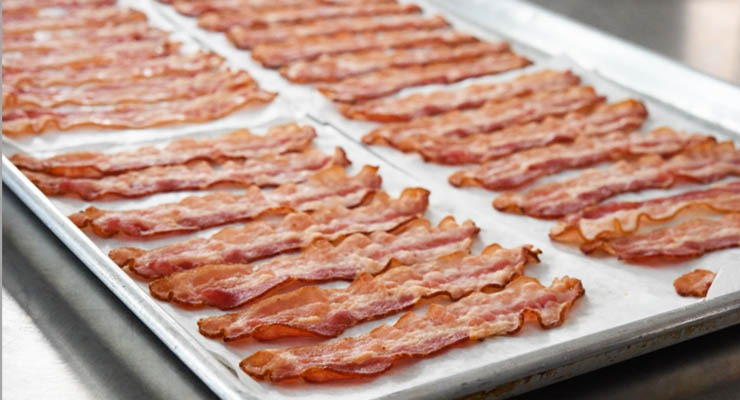 HORMEL® BACON 1™ on pans before cooking