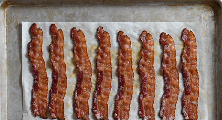 HORMEL® BACON 1™ cooked on pan