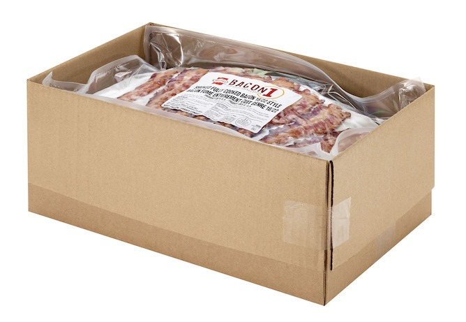 Open case of BACON 1